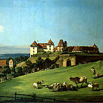 Bellotto, Bernardo – View of Pirna from the castle Sonnenstein, Part 01 Hermitage