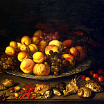 Ast, Balthasar van der – Plate with fruit and shells, Part 01 Hermitage