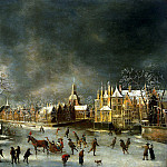 Berstraten, Abraham – Winter view of Leiden, Part 01 Hermitage
