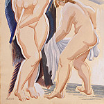 Part 01 Hermitage - Archipenko, Alexander - Two nude female figure with a veil