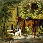Horses at the door, Albrecht Adam