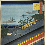 Ando Hiroshige – Sheet Temple Sandzyusangendo in the Fukagava, Part 01 Hermitage