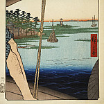 Ando Hiroshige – Sheet Benten Temple near the crossing Haneda, Part 01 Hermitage