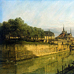 Part 01 Hermitage - Bellotto, Bernardo - Moat at the Zwinger in Dresden