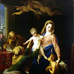 Batoni, Pompeo – Holy Family with St.. Elizabeth and St. John the Baptist, Part 01 Hermitage