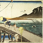 Ando Hiroshige – Sheet view from afar on the mountain Akiba-san in Kagegava, Part 01 Hermitage