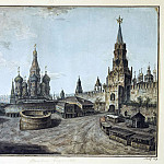 Part 01 Hermitage - Alekseev, Fedor - St. Basils Cathedral and the Spassky Gate