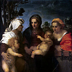 Andrea del Sarto – Madonna with Child, St. Catherine St.. Elizabeth and John the Baptist, Part 01 Hermitage