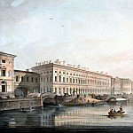 Beggrov, Karl Petrovich – View of the Palace Embankment, Part 01 Hermitage