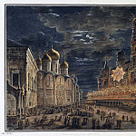 Alekseev, Fedor – Illumination on Cathedral Square in honor of the coronation of Emperor Alexander I, Part 01 Hermitage