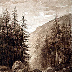 Bazeler, Leonie de – Mountain landscape in the Vosges, Part 01 Hermitage