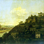 Bellotto, Bernardo – View of Pirna from the right bank of the Elbe River above the city, Part 01 Hermitage