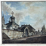 Part 01 Hermitage - Alekseev, Fedor - View of the Church of Our Lady and Grebnevskoy Vladimirsky Gate Chinatown