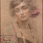 Part 01 Hermitage - Besnard, Paul Albert - Portrait of a Woman