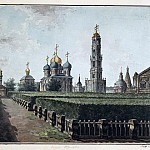 Part 01 Hermitage - Alekseev, Fedor - Trinity-Sergius Lavra. View of the Uspensky Cathedral, the belfry and refectory