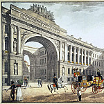 Part 01 Hermitage - Beggrov, Karl Petrovich - View of the arch of the General Staff of the Palace Square