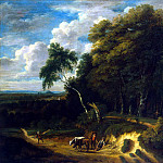 Artois, Jacques Dr – Landscape with cattle drover on the road, Part 01 Hermitage