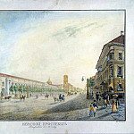 Part 01 Hermitage - Beggrov, Karl Petrovich - View of Nevsky Prospekt near the arcade