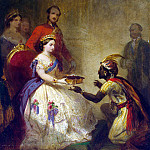 Barker, Thomas Jones – Queen Victoria presenting a Bible African chiefs, Part 01 Hermitage