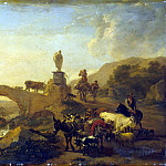 Burham, Nicholas Peters – Italian landscape with a bridge, Part 01 Hermitage