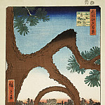Part 01 Hermitage - Ando Hiroshige - Sheet pine-moon in Ueno