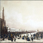 Beggrov Karl Petrovich – Shrove-tide festivities with coasting on the Imperial meadow in St. Petersburg, Part 01 Hermitage