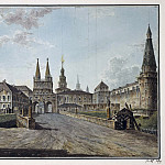 Part 01 Hermitage - Alekseev, Fedor - View of the Resurrection Gates and Neglinny Bridge from Tverskaya Street