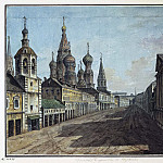 Part 01 Hermitage - Alekseev, Fedor - View of St. Basils on Moskvoretskaya streets