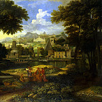 Alegre, Etienne – Landscape with Moses, rescued from the water, Part 01 Hermitage
