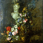 part 09 Hermitage - Peirano, Genovese - Flowers and a bust of a faun