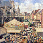 Pissarro, Camille – Fair in Dieppe. Sunny morning, part 09 Hermitage