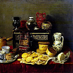 Pereda, Antonio – Still Life with sideboard, part 09 Hermitage