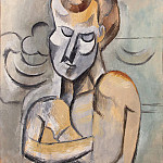Picasso, Pablo – The man with folded hands, part 09 Hermitage