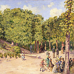 The Town Park in Pontoise, Camille Pissarro