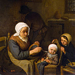 Ostade, Adriaen van – Peasants family, part 09 Hermitage