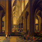 Neffs, Peter Younger – Interior of Antwerp Cathedral, part 09 Hermitage