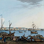 Paterssen, Benjamin – View of the Promenade des Anglais and Galerny yard with Vasilevsky Island, part 09 Hermitage