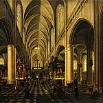 part 09 Hermitage - Neffs, Pieter the Elder Francken, Hieronymus II - Interior of a Gothic church