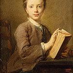 Perron, Jean-Baptiste – Portrait of a boy with a book, part 09 Hermitage