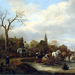 Ostade, Isaac van – Winter view, part 09 Hermitage