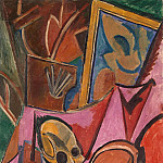 Composition with skull, Pablo Picasso