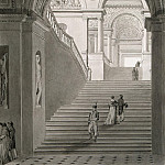 part 09 Hermitage - Persia, Charles, Fontaine Pierre - View of New stairs in the Museum of Napoleon I