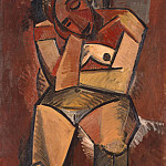 Picasso, Pablo – Seated Woman, part 09 Hermitage