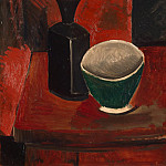 Green Bowl and Black Bottle, Pablo Picasso