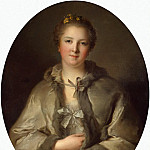 Nattier, Jean-Marc – Portrait of a Lady in Grey, part 09 Hermitage