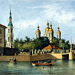 part 09 Hermitage - Perrot Ferdinand-Victor - View of St. Nicholas Cathedral of the Epiphany