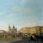 Paterssen, Benjamin – View of the Haymarket Square in St. Petersburg, part 09 Hermitage