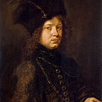 Paudiss, Christopher – Portrait of a young man in a fur hat, part 09 Hermitage