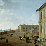 Paterssen, Benjamin – View of the embankment Vasilevsky Island near the Academy of Fine Arts in St. Petersburg, part 09 Hermitage