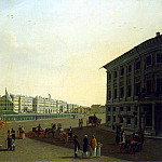 Paterssen, Benjamin – View of the Palace Square and Winter Palace from the beginning of Nevsky Prospekt, part 09 Hermitage